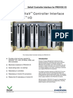 PDS S-series Controller Interface PROVOX IO