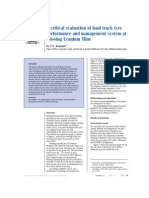 A Critical Evaluation of Haul Truck Tyre