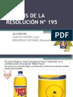 Análisis de La Resolución Nº 195
