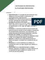 Glosario de Principios de Administración