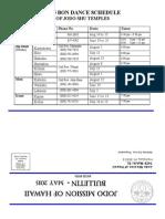 Jodo Mission Bulletin - May 2015