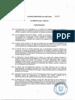Acuerdo Ministerial 0040-1