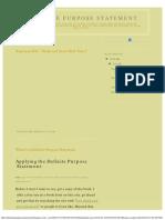 Examples of Definite Main Purpose Satements