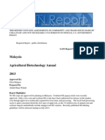 Agricultural Biotechnology Annual Kuala Lumpur Malaysia 7-24-2013