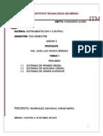 Tarea 1 Unidad II Resumen Sistemas Primer Segundo y Orden Superior