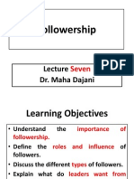 Elearning Lecture Seven Followership