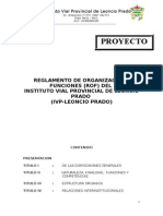 Reglamento de Organización y Funciones Del Instituto Vial Provincial de Leoncio Prado 2013