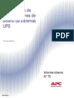 Comparacion de Configuraciones de Diseno de Sistemas UPS