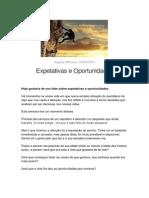 Expetativas e Oportunidades