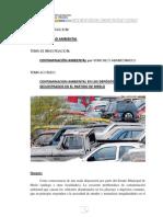 Contaminación ambiental por vehículos abandonados.