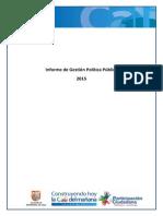 Informe de gestión polÃ-tica pública 240415