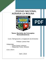Revisión de Conceptos Termodinamicos