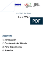 Análisis de Agua Cloro - Sunass