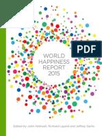 Reporte Mundial de la Felicidad 2015