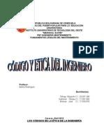 Trabajo Etica y Codigo Del Ingeniero en Venezuela