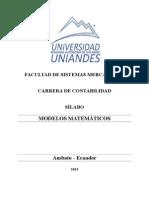 Silabo de Modelo Matemático CONTABILIDAD