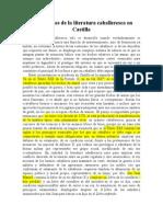 Los Orígenes de La Literatura Caballeresca en Castilla