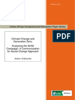 Climate Change & Generation Zero - Analysing the 50/50 campaign