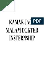Kamar Jaga Malam Dokter Insternship