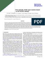 Open Clusters UCAC4 2014AA