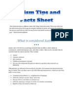 autism tips and facts sheet (use this one)