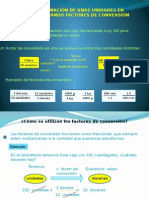 Factor de conversion