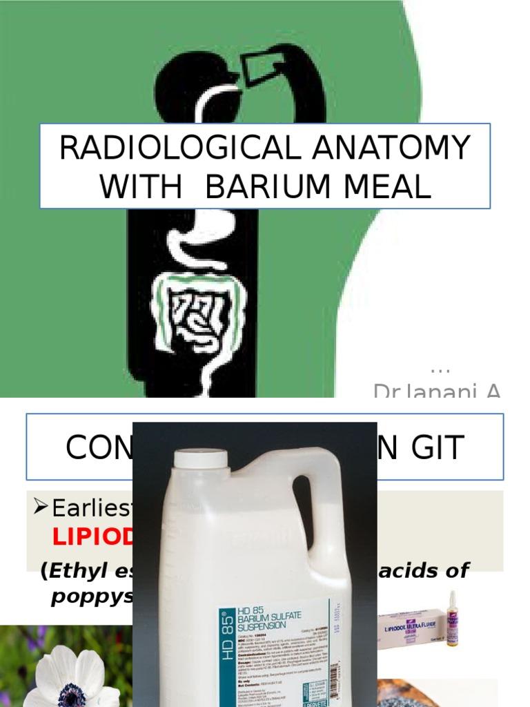 is barium sulfate suspension radioactive