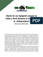 Johnston, Samuel - Diario de Un Tipografo Yanqui en Chile Y Peru