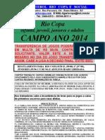 Regulamento Campo Riocopa Adulto