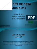 LEY 139 DE 1994