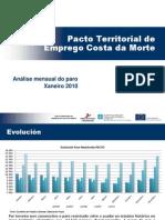 Informe Paro Rexistrado Xaneiro 2010