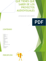 Presentacion sobre el Seminario de Proyectos Audiovisuales