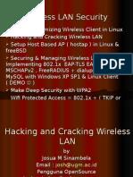 Presentation II Hacking and Cracking Wireless LAN