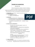 INFORME  DE PLANIMETRIA