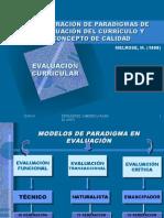 Exploracion de Paradigmas de Evaluacion Del Curriculo y