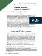Prácticas Inclusivas. Esperanzas de Humanidad