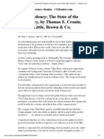 The Presidency_ the State of the Presidency, By Thomas E. Cronin. Boston_ Little, Brown & Co. - CSMonitor