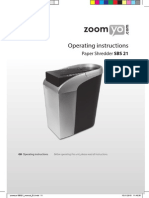 Zoomyo SBS21 Manual GB