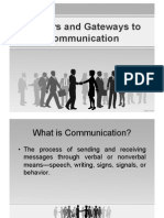 Barriers & Gateways to Communication