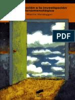 Heidegger Martin - Introduccion a La Investigacion Fenomenologica