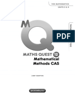 Maths Quest 12 Mathematical Methods CAS Solutions Manual
