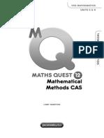 Maths Quest 12 Mathematical Methods CAS Solutions Manual