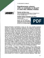 2003 - Lima Etal - Espalhamento Urbano - Revista Dos Transportes Publicos 2003