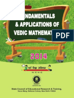 Fundamentals and Application of Vedic Mathematics (SCERT, 2014)
