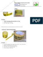 Yellow Packaging & Floor Tape