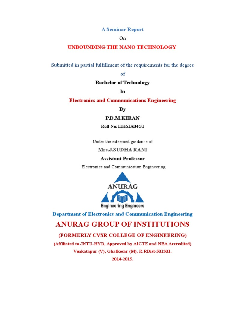 1 title | Nanotechnology | Materials Science