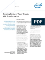 Creating Business Value Through Erp Transformation