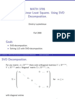 Lecture 9 Linear Least Squares SVD