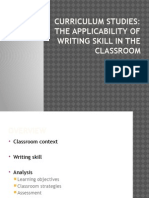 The Applicability of Writing Skill in Classroom