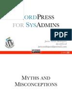 WordPress for SysAdmins